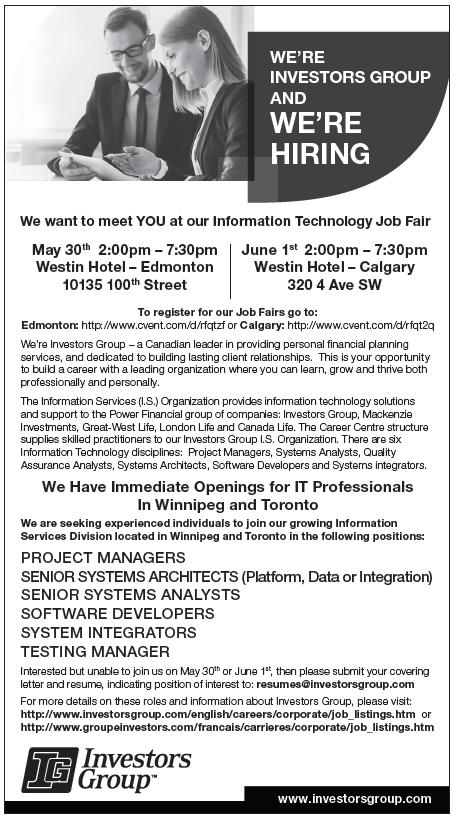Technology Job Fair - Hosted By: Investors Group | IIBA